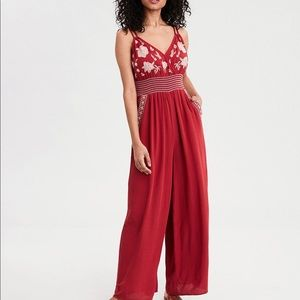 American Eagle double strapped smocked jumpsuit